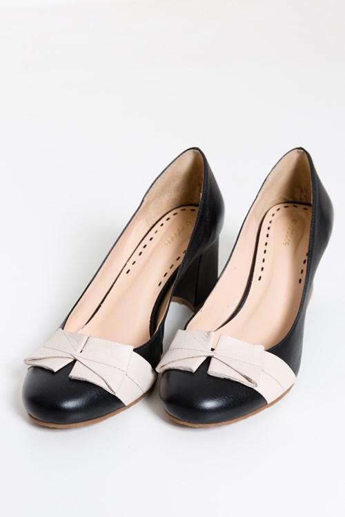 Sapato Recorte Laço