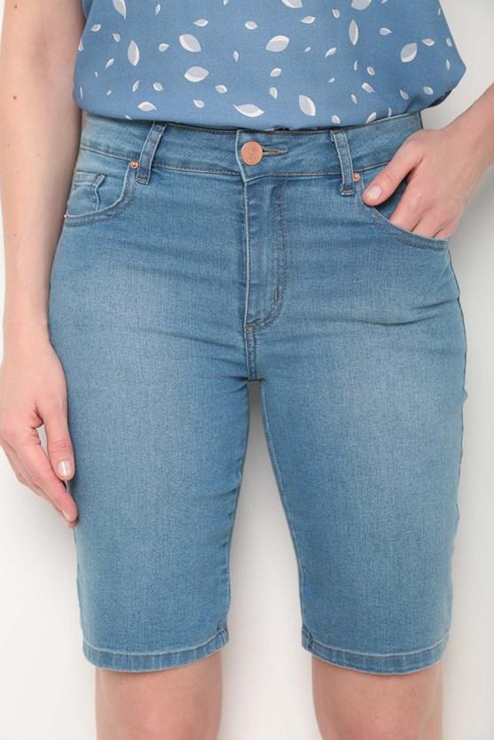 Bermuda ciclista jeans clara