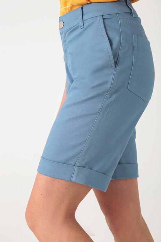 Bermuda sarja barra italiana comfort azul