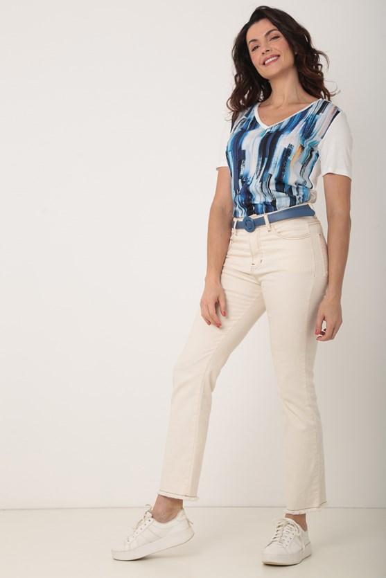 Blusa 2 em 1 off white