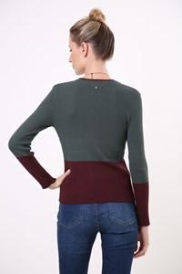 Blusa Canelada Bicolor Tricot