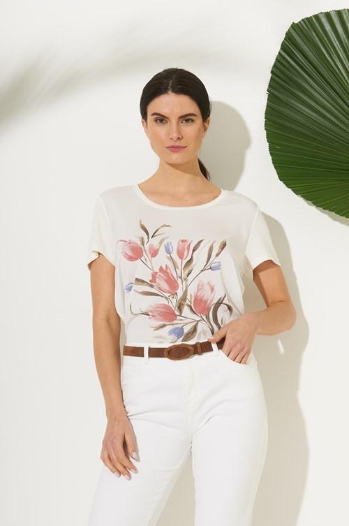 Blusa Crepe Floral Do Campo