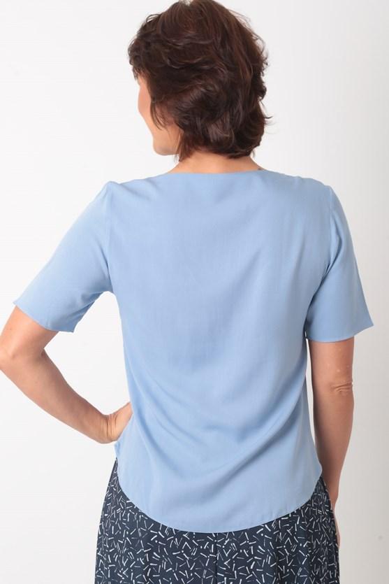 Blusa Decote Com Prega Viscose