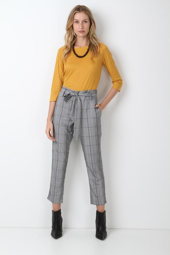 Blusa Decote Duplo Canelado