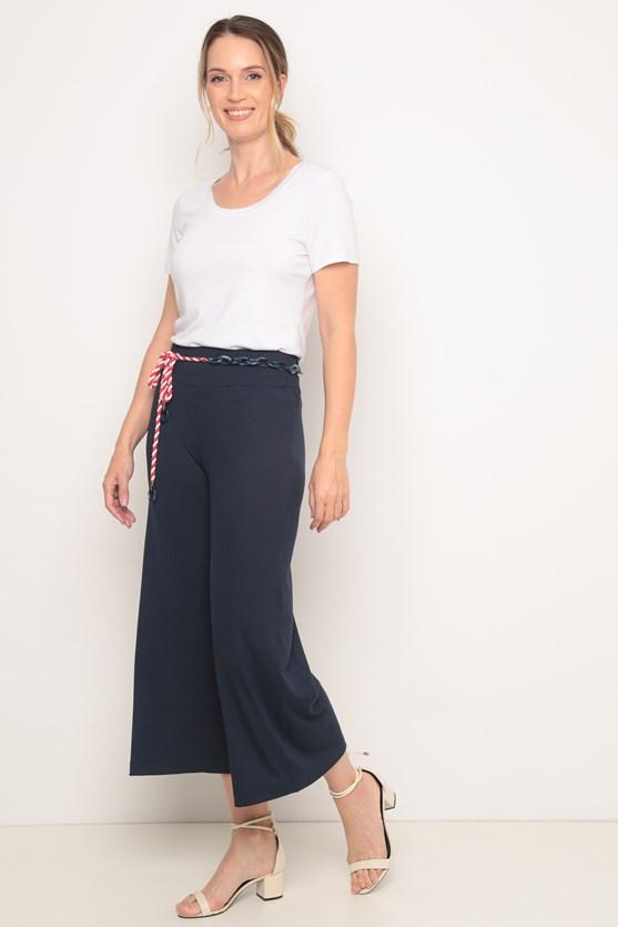 Blusa decote redondo manga curta branco