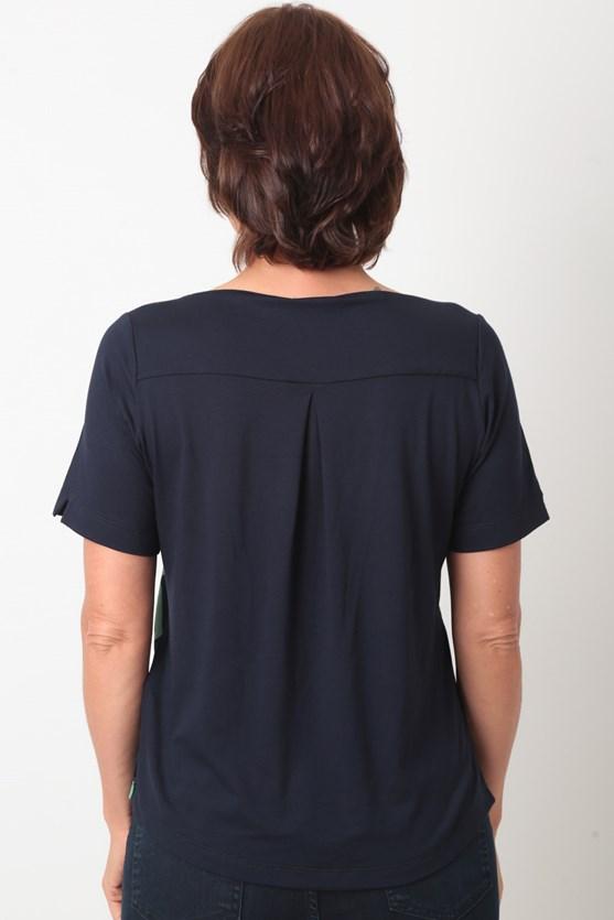 Blusa Decote V Traços
