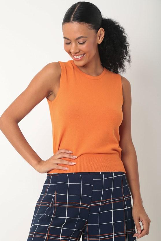 Blusa fio de viscose laranja