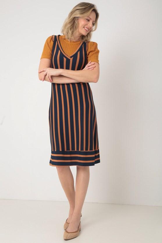 Blusa manga curta pontos vazados manga franzida lj laranja