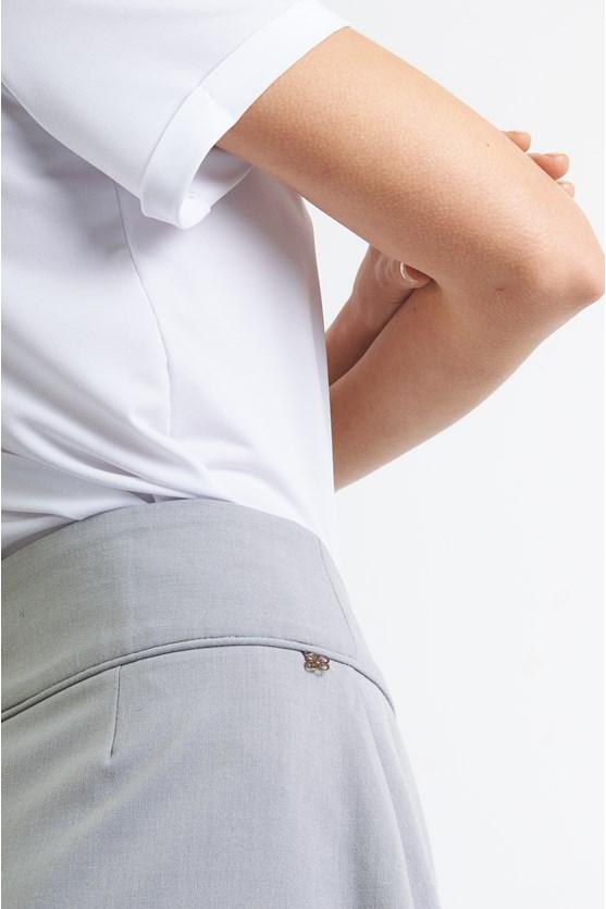 Blusa manga dobrada jersey preto