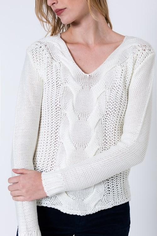 Blusa Tricot Trança Elegante
