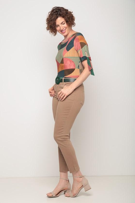 Blusa viscolycra amarração manga estampa diversas rs blush