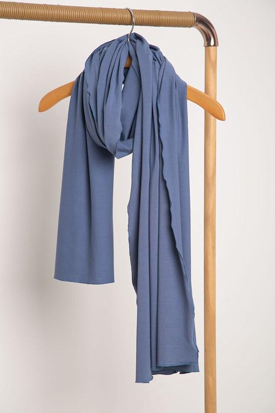 Cachecol color malha az azul