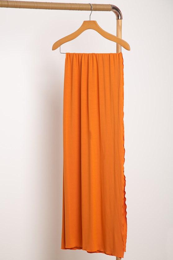 Cachecol color malha laranja