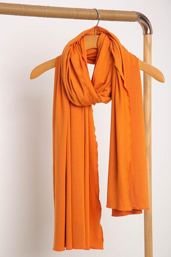 Cachecol color malha lj laranja