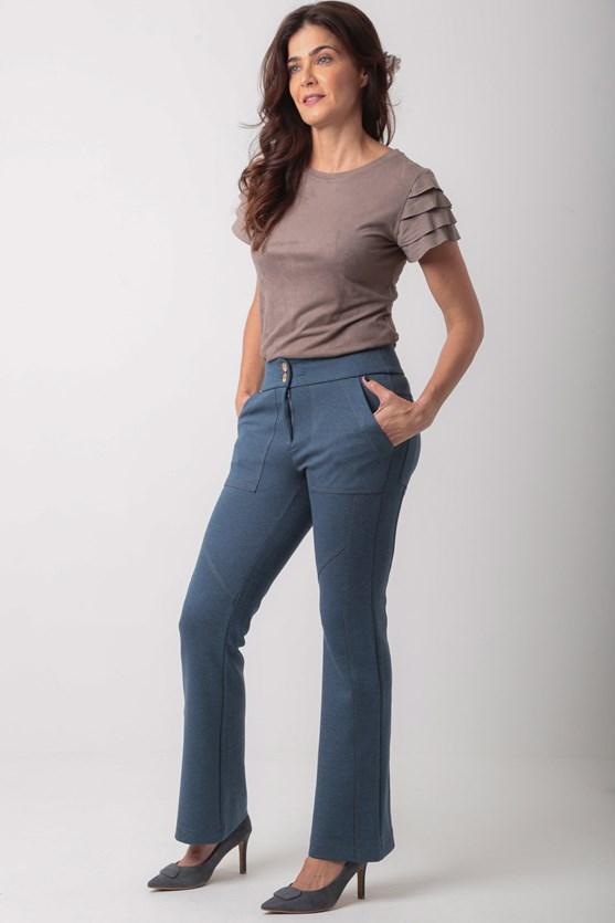 Calça bootcut recortes poliamida az jeans