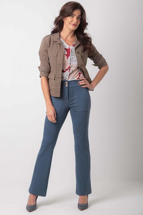 Produto Calça bootcut recortes poliamida az jeans