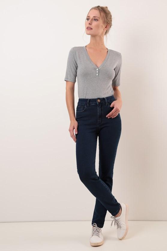 Calça Cigarrete Jeans Comfort