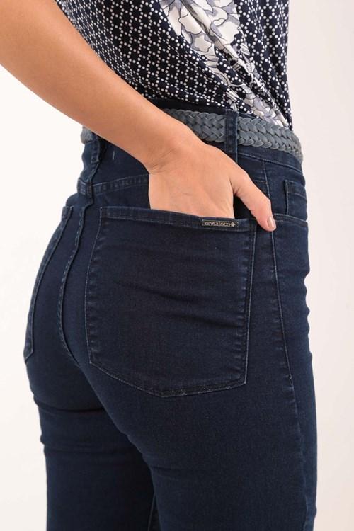 Calça Cigarrete Jeans De Malha