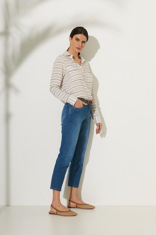 Calça Cropped 5 Pockets Jeans