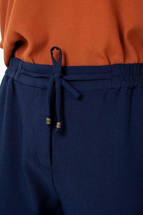 Calça Cropped Elástico Cós Rolote