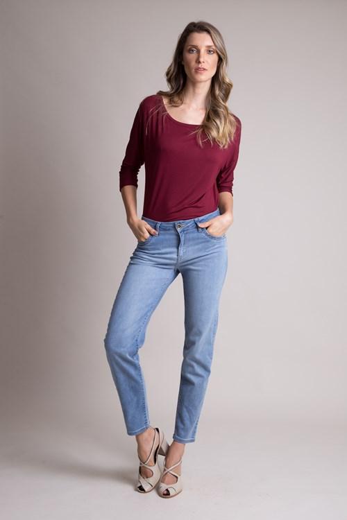 Calça Jeans Cigarrete Blue Clara