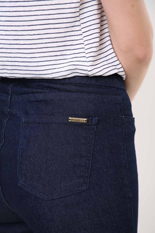 Calça Jeans Cigarrete Cós Elástico