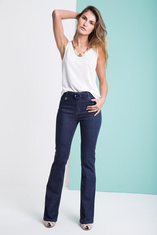 Calça Jeans Flare Amaciada