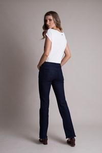 Calça Jeans Reta Amaciada Bella Donna