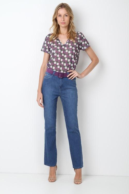 Calça Jeans Reta Puídos