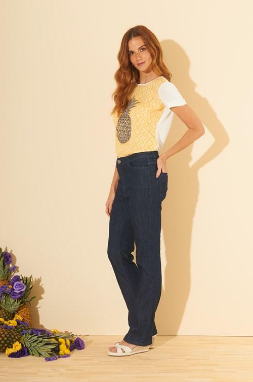 Calça Reta Jeans