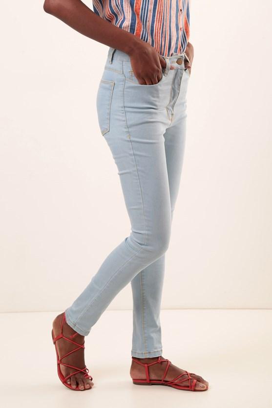 Calça Slim Clássica Cintura Alta Efeito Redutor