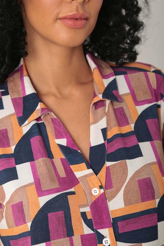 Camisa de malha geo lunar bg caramelo
