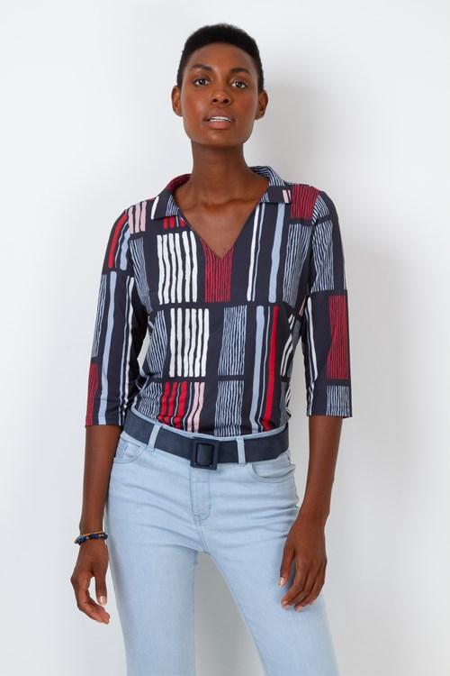 Camisa Manga 3/4 Jersey Listras Multicolor