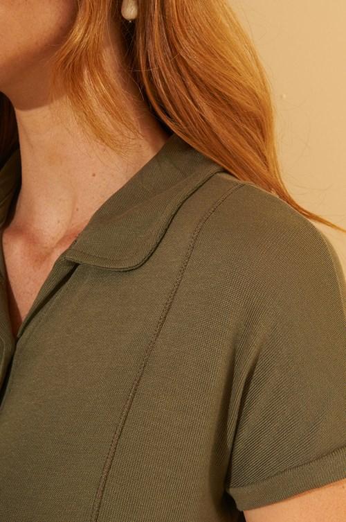 Camisa Manga Curta Malha Tricot