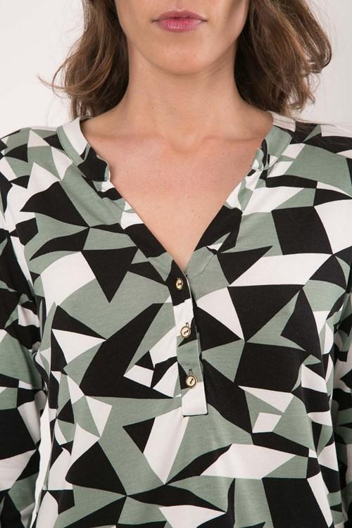 Camisa Meia Vista Viscolycra Mosaico