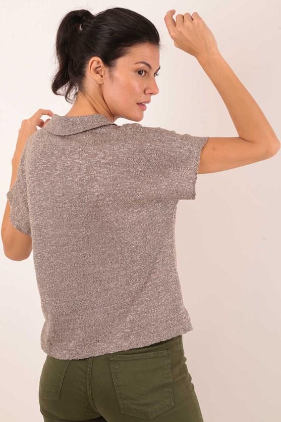 Camisa Polo Manga Curta Tricot