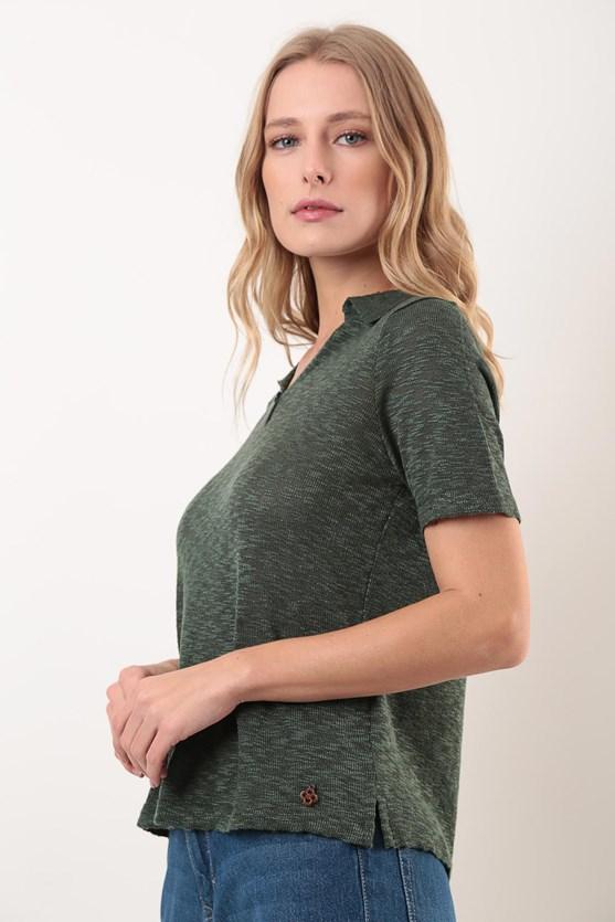 Camisa polo manga curta tricot vd militar