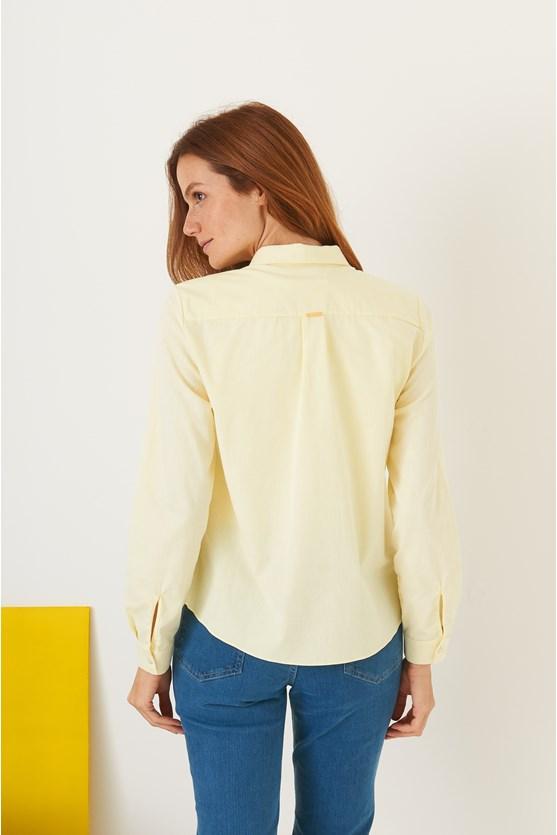 Camisa vista inteira bolso chambray am lemonade