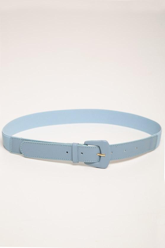 Cinto elástico médio fivela azul claro
