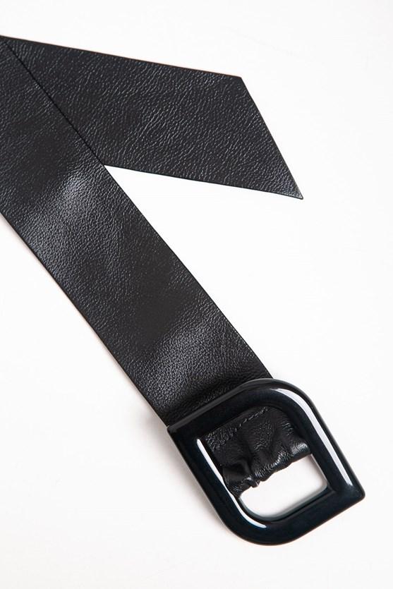 Cinto faixa fivela resina preto