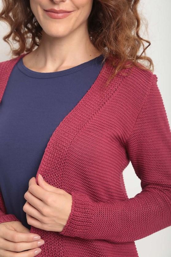 Cobertura tricot pontos em linha rs rosa