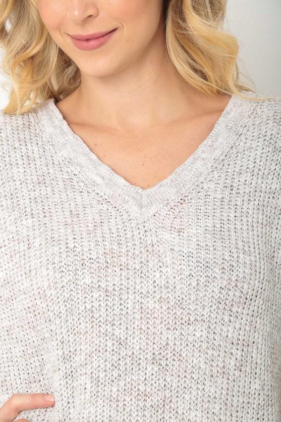 Colete tricot decote v off white