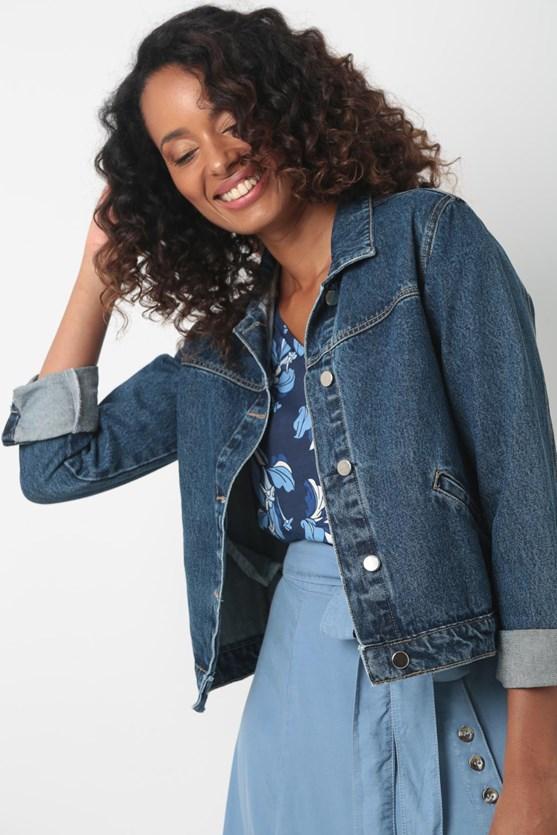 Produto Jaqueta jeans algodão média