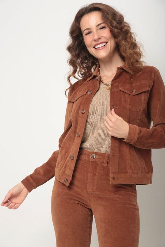Jaqueta veludo marrom