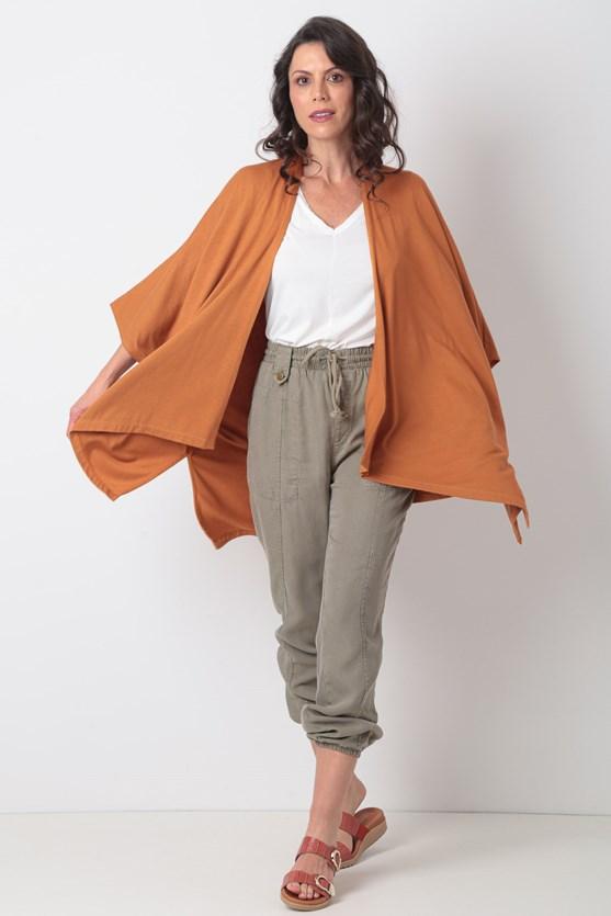 Kimono Sem Cava Malha Texturizada