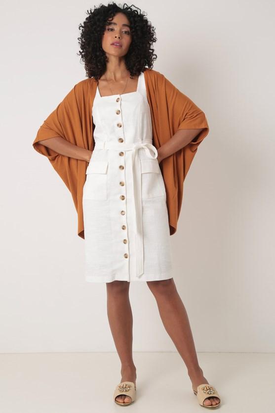 Produto Kimono sem cava malha texturizada bg caramelo
