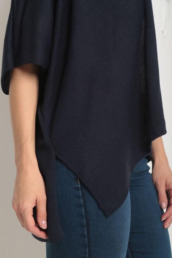 Kimono tricot pontos delicados azul marinho