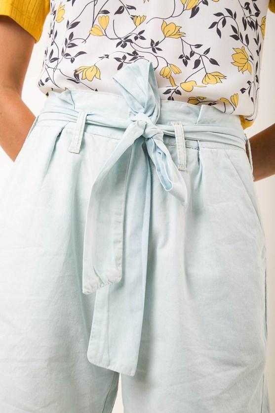 Short Clochard Jeans Algodão