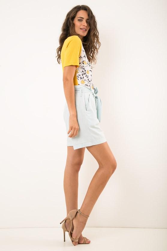 Short clochard jeans algodão clara