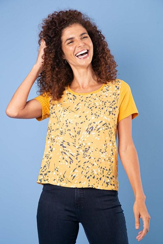 T-Shirt Decote U Canelado Movimento